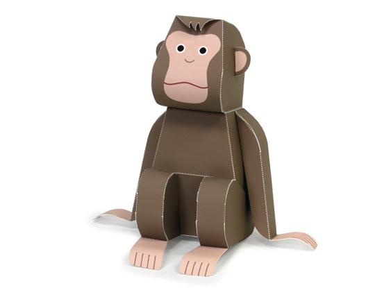 minecraft поделки из бумаги обезьянка