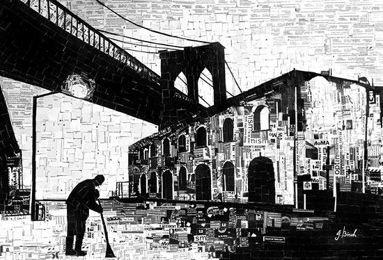 аппликации из бумаги город Нью-Йорк