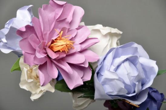 цветы весенние из бумаги