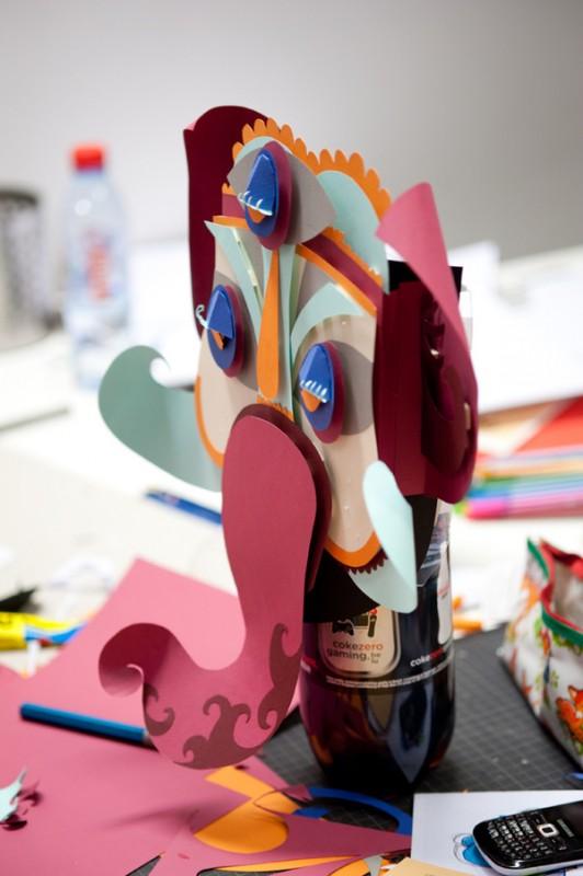 Как сделать из бумаги маску слона