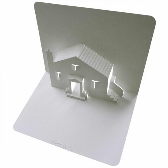 как сделать объемную открытку доми