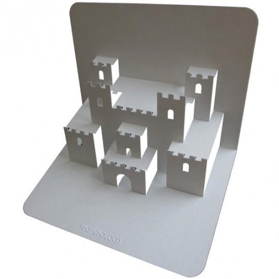 как сделать объемную открытку с замком