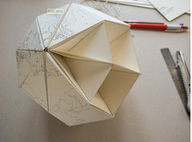 Как из бумаги сделать глобус 189