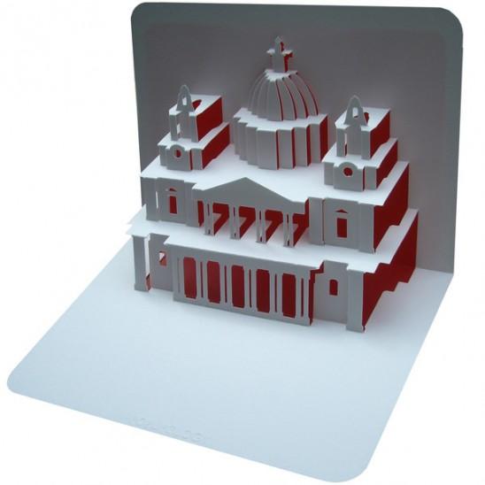 объемные открытки Pop-Up своими руками с изображением архитектурных сооружений