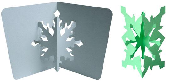 Объемные снежинки из бумаги от