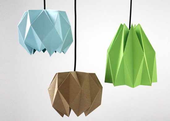 Поделки оригами абажур из бумаги