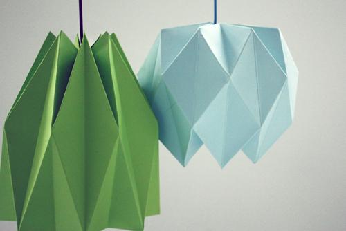 как сделать оригами абажур на лампу