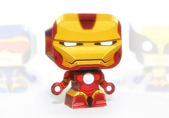 как сделать игрушки из бумаги Железного Человека