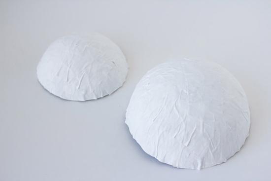 папье маше как делать тарелка