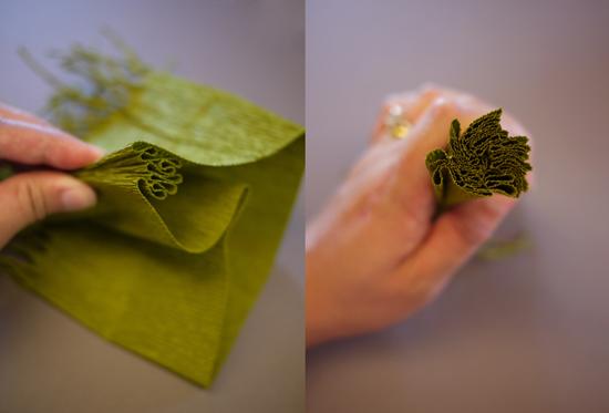 украшения из гофрированной бумаги