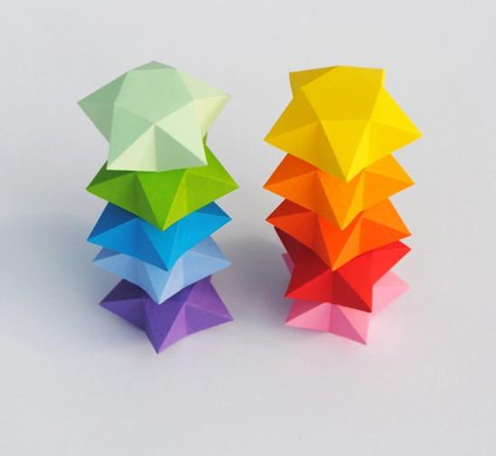Как сделать объемную звезду оригами фото 318