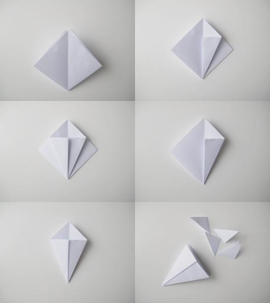 Как из бумаги сделать брилиант