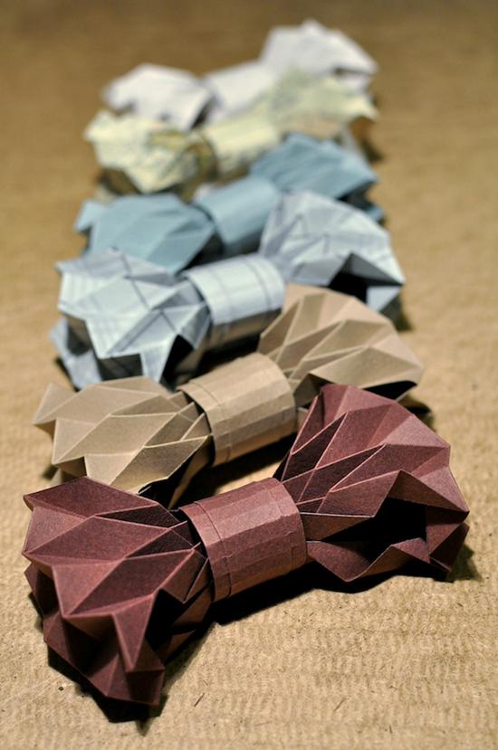 как сделать оригами бантик