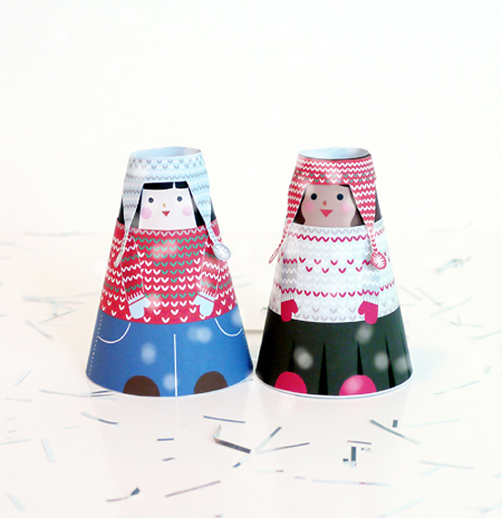 объемные куклы из бумаги