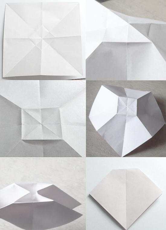 оригами бантик схема