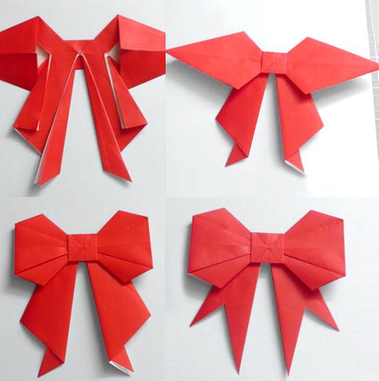 Как сделать бантик-оригами