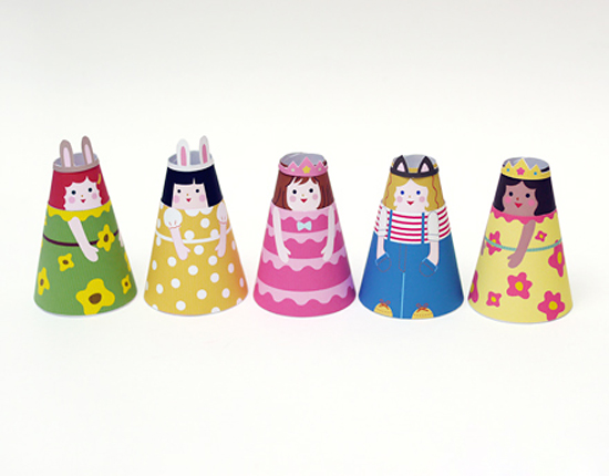 куклы из бумаги с одеждой