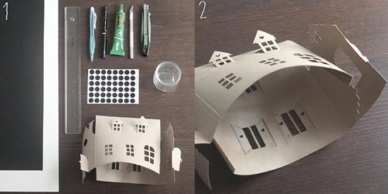 Схемы макета из бумаги