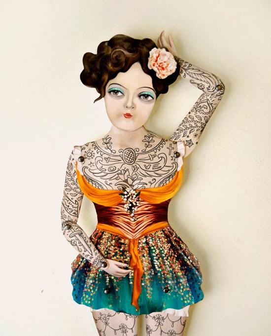 бумажные шарнирные куклы
