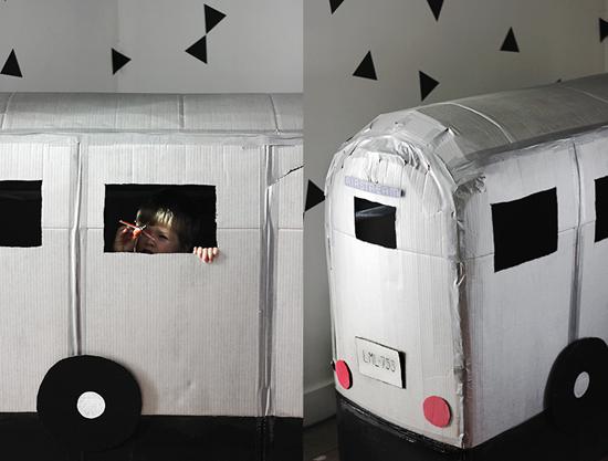домик на колесах из коробки своими руками