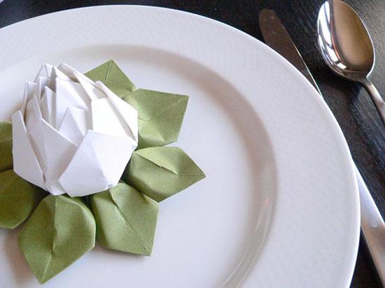 Лотос оригами мастер класс