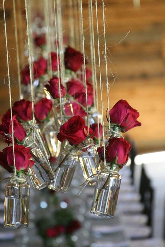 декор розами