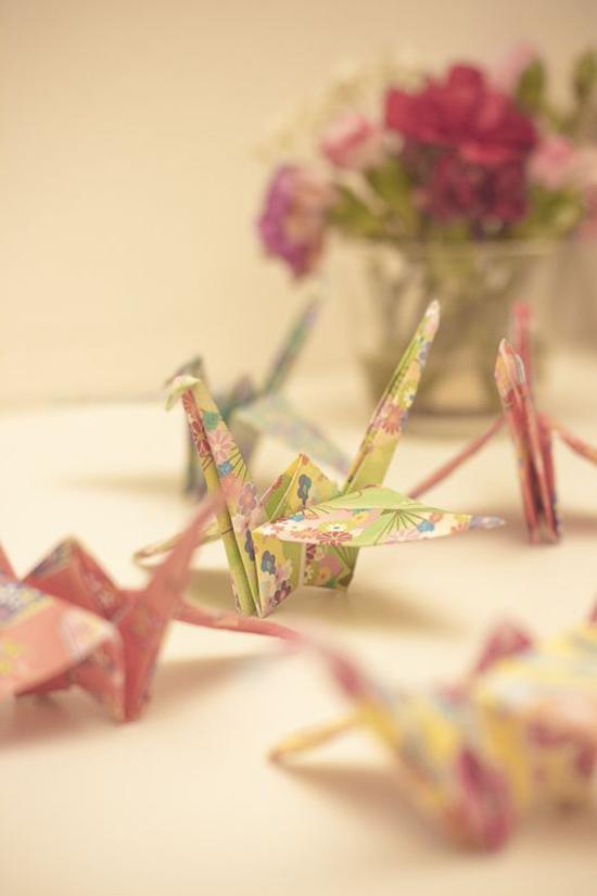 оригами из бумаги журавлик