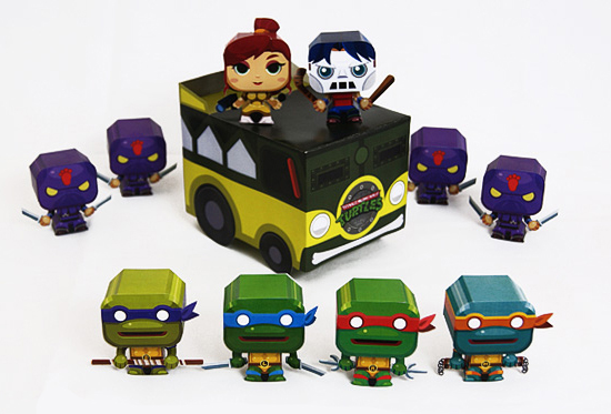 модели игрушек из бумаги
