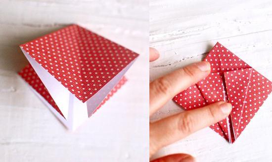 оригами журавлик схема