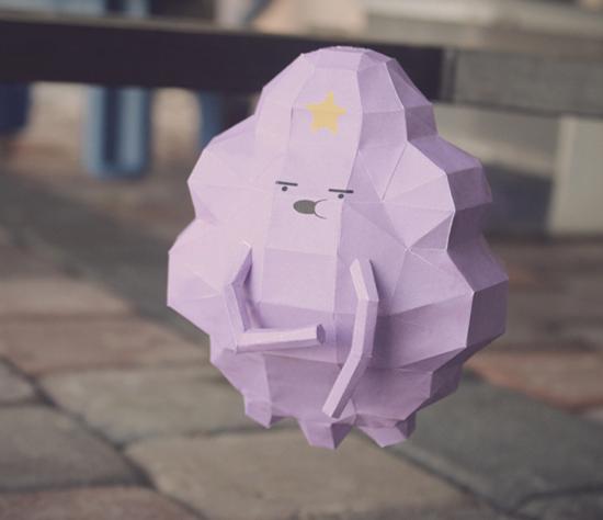 принцесса пупырка - модель из бумаги