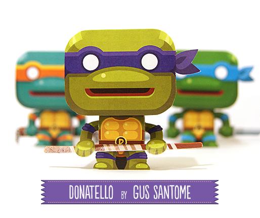 Donatello персонажи из бумаги