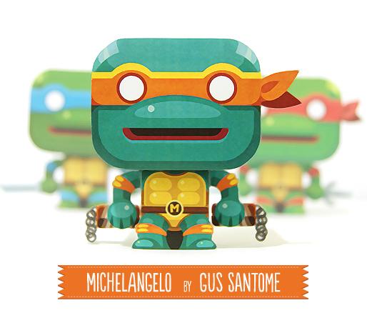Michelangelo модели игрушек из бумаги